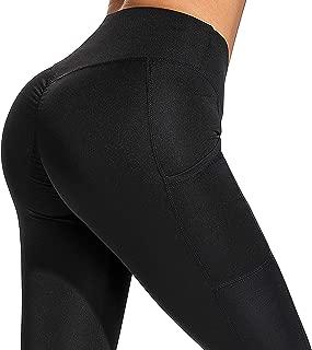 YOFIT Womens Butt Lift Push up Capri High Waist Yoga Pants Workout Leggings