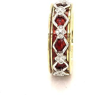 Anello in Oro 18K Diamanti Naturali, SMALTI