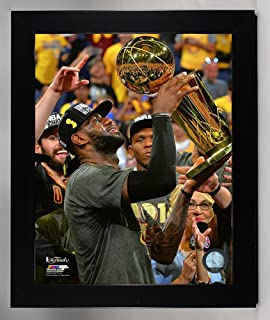 Framed Cleveland Cavaliers LeBron James With The Championship Trohpy. 8x10  Photo Picture From the 2016 f55bf63f4