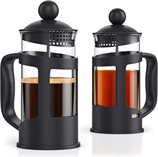 French Press Coffee Maker - Set of 2 pcs in Gift Box - 12oz French Press Coffee & Tea Maker - 2 Cup Capacity - by Meshberry