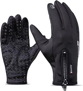 HelloGO 個性 防寒手袋 アウトドアグローブ タッチパネル操作可能 冬用 登山 トレッキング サイクリング キャンプ スノーボード ウインタースポーツなど用手袋/グローブ 防水
