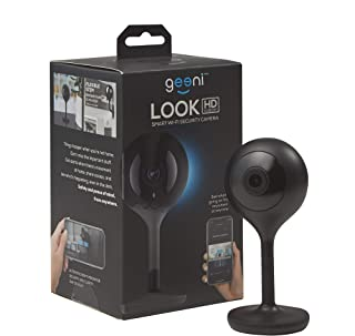 Geeni LOOK 1080p HD Smart Indoor Surveillance Camera for Home Security  No Hub Works with Amazon Alexa, Google Assistant & Microsoft Cortana, Requires 2.4 GHz Wi-Fi, Black