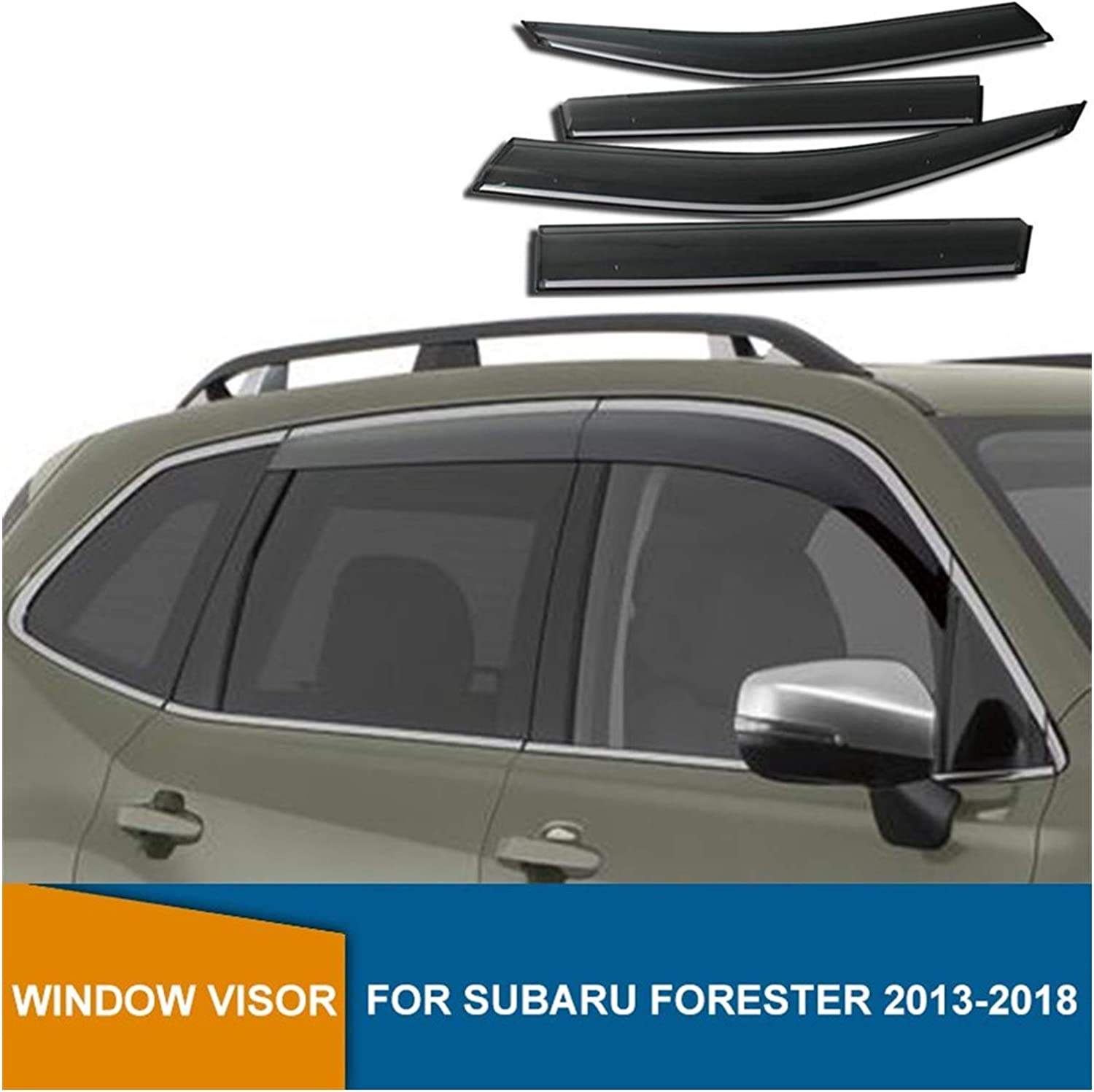 QUXING Direct stock discount Window Wind Deflectors for Year-end gift Forester Subaru Side 2013-2018