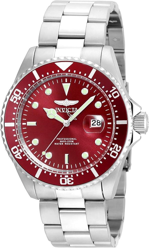 Invicta pro diver, orologio da uomo in acciaio inossidabile 22048