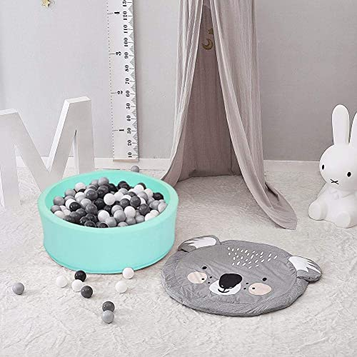 Huaqiang Deluxe Kids Runde B ebad, Premium handgemachte Kiddie Balls Pool, Weiße Indoor Outdoor Kindergarten Baby Laufstall, Spielen Spielzeug (5 - Farben)
