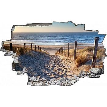 3d Wandtattoo Strand Mit Palme Dreidimensional Selbsthaftend Abwaschbar Einfach Anzubringen Und Abzulosen 70 X 100 Cm Motiv Strand Mit Palme Amazon De Baumarkt