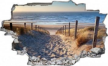 Fotografie Nordsee Strand Sonne Wandtattoo Wandsticker Wandaufkleber C1676 Grosse 120 Cm X 180 Cm Amazon De Kuche Haushalt