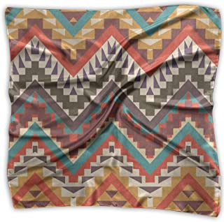 Square Scarf Colorful Aztec Chevron Tribal Bandanas Unisex Muffler Tie For Man