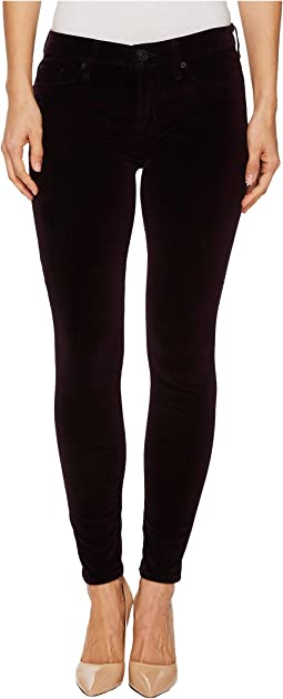 Hudson - Nico Mid-Rise Ankle Super Skinny Velvet Jeans in Violet Trance