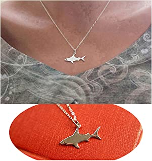 gold shark necklace