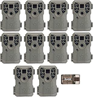 Stealth Cam PX14X P Series Digital Scouting Trail Game Camera (10MP), 10-Pack with Focus USB Reader