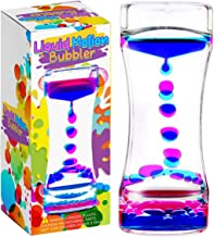 YUE MOTION Liquid Bubbler Visual Sensory Timer, 2 Minute – New Big XL Calming Sensory Drip Drop Color Water Bubble Toy (Single Pack)