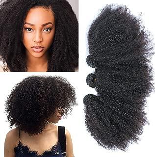 Mongolian Afro Kinky Curly Hair 3 Bundles Human Virgin Hair Weave Black Color 300g (10