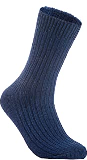 Lian LifeStyle Men's 5 Pairs Knitted Wool Crew Socks One Size 8-11