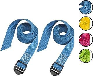 Master Lock 3005EURDATCOL Sangles Valise avec Boucle en Plastique, Couleur Aléatoire, 1,80m x 25mm sangle, Pack de 2