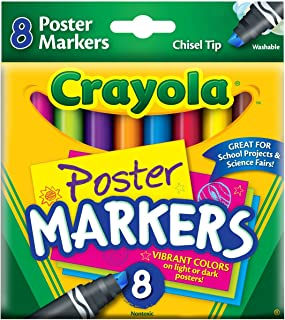 Crayola Poster Board Markers, Pack of 8, Assorted Colors