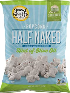 Good Health Half Naked Popcorn with Hint of Olive Oil 4oz. Bag (3 Bags)