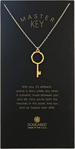 Dogeared - Master Key, Crystal Halo Key Necklace