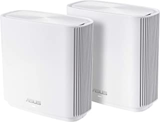 ASUS ZenWiFi AC Whole-Home Tri-Band Mesh System (CT8 2 Pack White) Coverage up to 5,400 sq.ft, AC3000, WiFi, Life-time Fre...