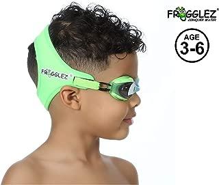 Frogglez Comfortable Explorerz Jr. Kids Swimming Goggles with Custom Fit Neoprene Strap, Comfort First Design, Unisex