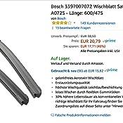Bosch Scheibenwischer Aerotwin A072s Länge 600mm 475mm Set Für Frontscheibe Auto