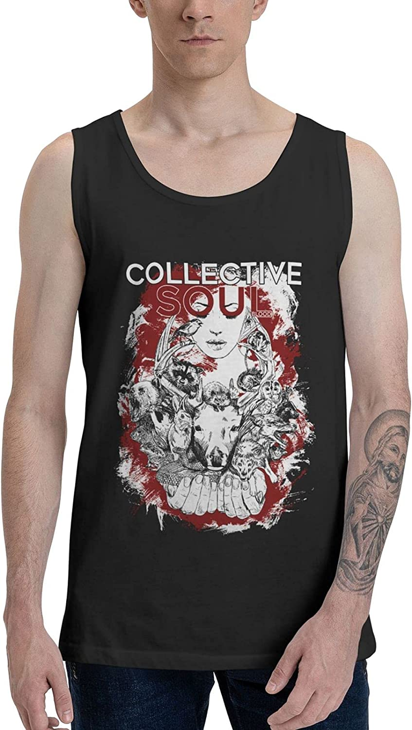 Collective Soul Tank Top Men's Summer Sleeveless Clothes Stylish Vest