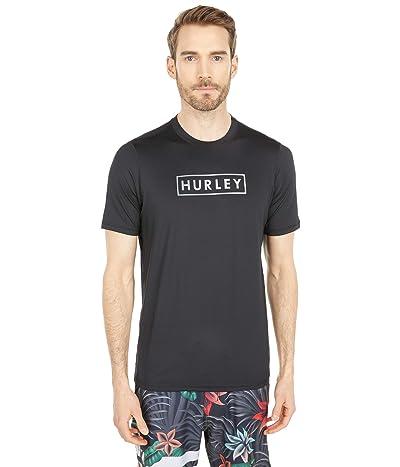 Hurley Boxed Gradient Short Sleeve Rashguard (Black) Men