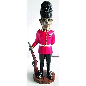 MP Essentials Garden Porch Meerkat Soldier Guard Statue Ornament