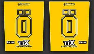 Öhlins Gabel Aufkleber transparent gelb CR CRF Kawasaki Suzuki EXC SX SCD