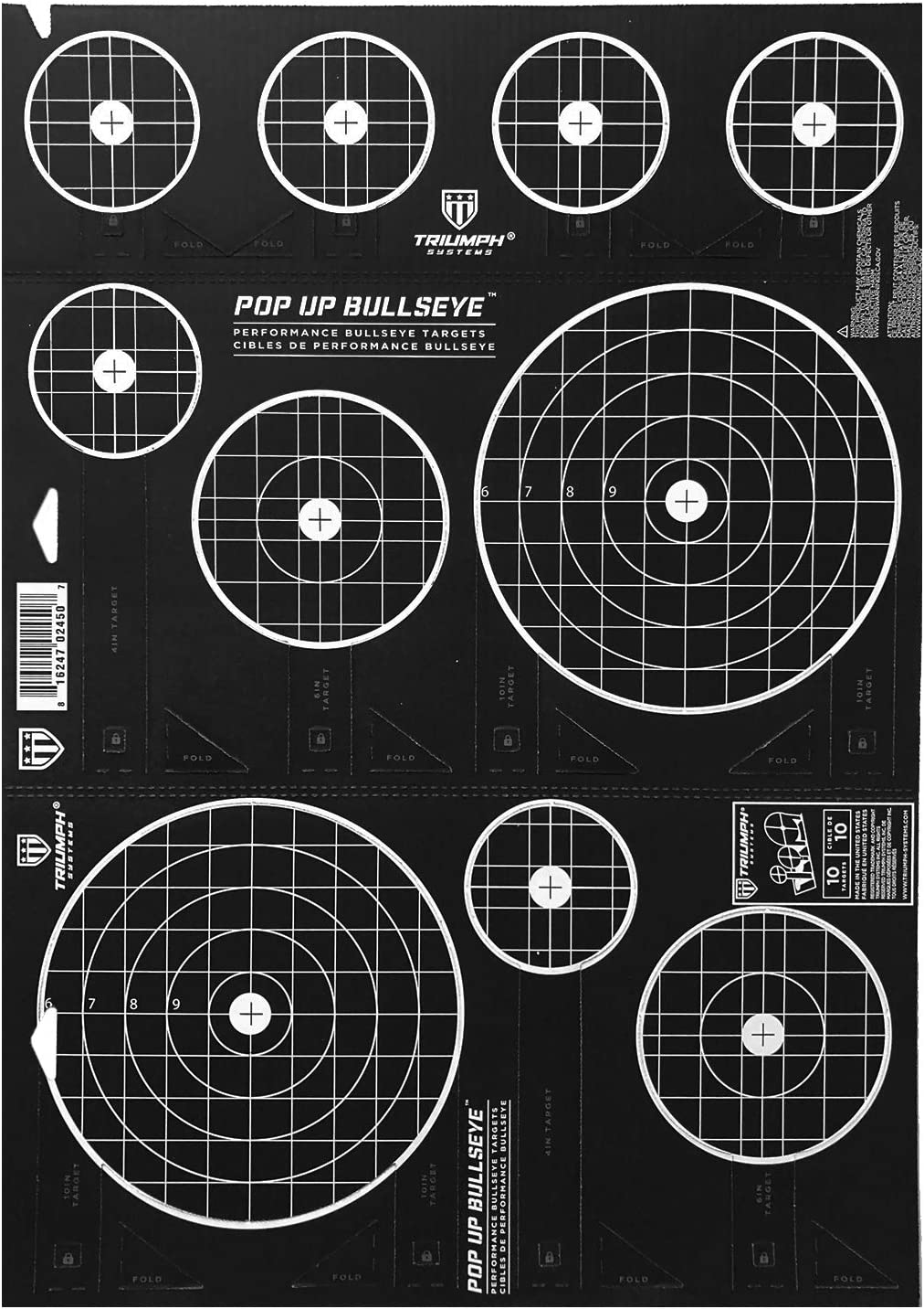 Triumph Systems Pop Up Bullseye Target 30 22 x Max 72% OFF New life Cardboard