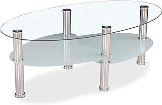 DISTRIGAL S.L. HomeSouth – Mesa de Centro Fija Mesa de Cristal mesita de Comedor de Vidrio Modelo Senna Medidas: 110 ...