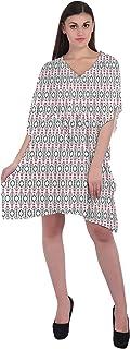 RADANYA Ikkat Women's Casual wear Cotton Kaftans Swimsuit Cover up Caftan Beach Short Dress