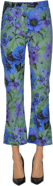 Massimo Alba Women's MCGLPNC000005007E bluee Cotton Pants