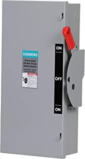 Siemens DTNF362 60-Amp, 3 Pole, 600-volt, 3 Wire, Non-Fused Double Throw, Type 1
