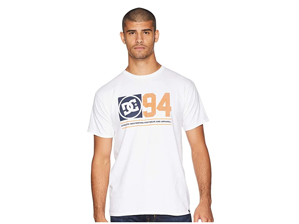 DC Player Seven Short Sleeve Tee (Snow White) Men's T Shirt