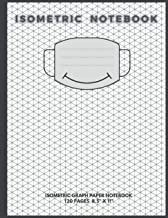 "Isometric Notebook: Isometric Graph Paper Notebook 120 Pages 8.5"" X 11"" with a smiley mask on the cover"