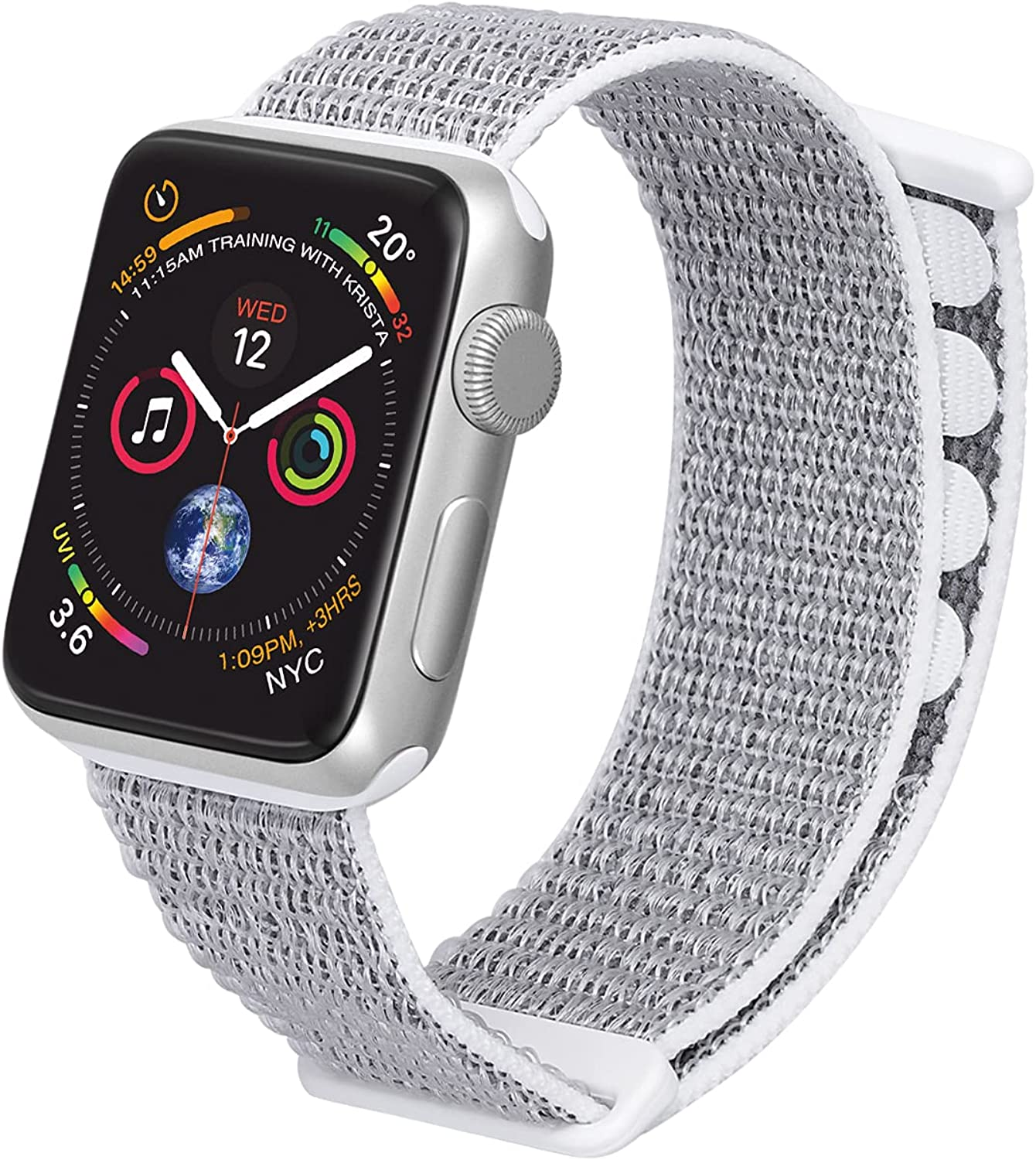 Blueauty Sport Loop Stretchy Strap Compatible with Apple Watch Bands 38mm 40mm 41mm,Nylon Braided Adjustable Replacement Wristbands for Women Men for iwatch Series SE 7 6 5 4 3 2 1