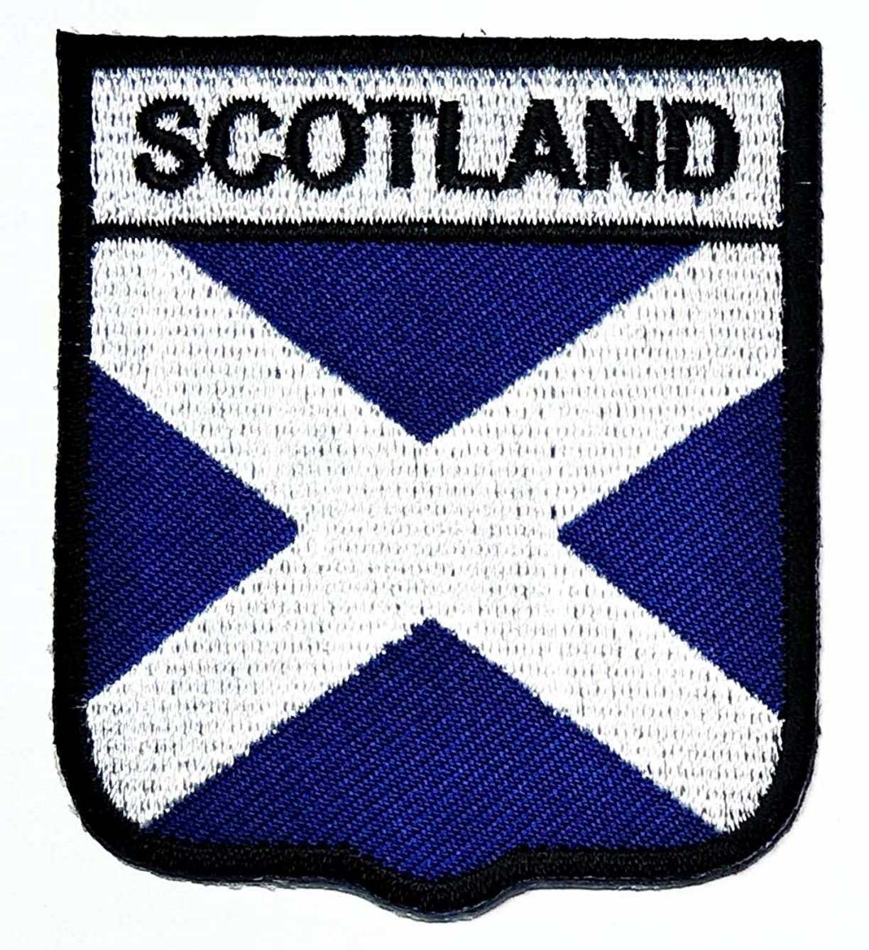 Nipitshop Patches Scotland Country Flag Embroidered National Emblem Patch Clothes Bag T-Shirt Jeans Biker Badge Applique Iron on Sew On Patch for Women Men and Kid or Gift Set