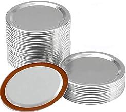 24 PCS Canning Lids Mason Jar Lids Reusable Leak-Proof Storage Solid Caps Mason Jar Regular Mouth Metal Split-Type Lids fo...