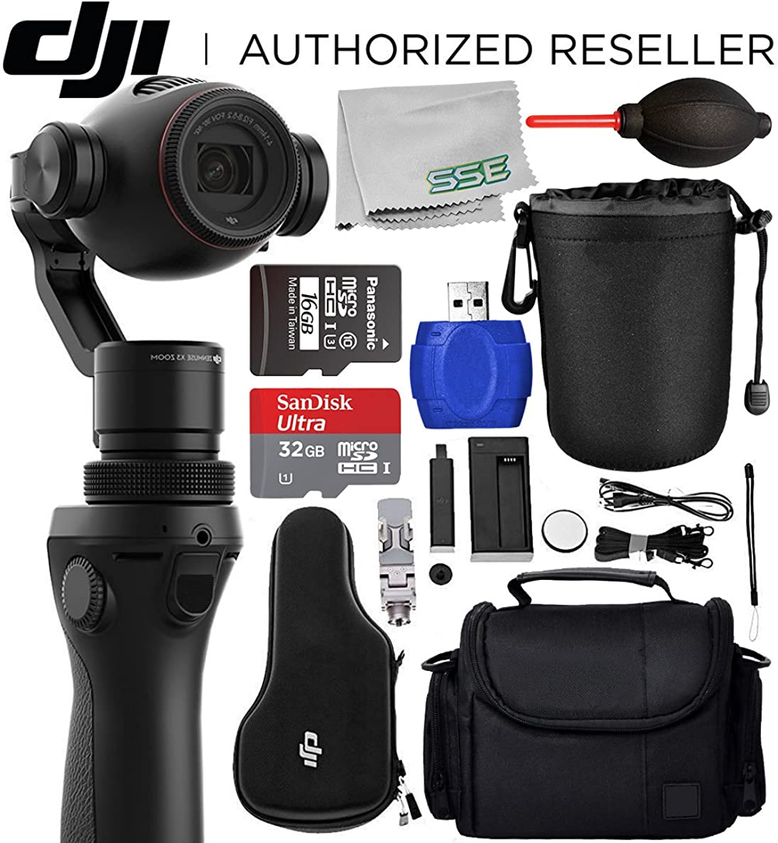 DJI OSMO+ Plus Handheld Fully Stabilized 4K Camera Starters Bundle