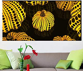 MZYZSL Yayoi Kusama Pumpkin Canvas,Arts Printed Painting On Canvas,Wall Painting for Home Decor Wall Picture NO Frame 60X120CM