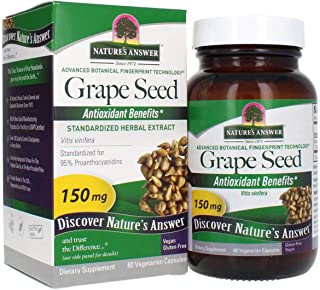 Nature's Answer Grape Seed Vegetarian Capsules, 60-Count | Natural Immune Support | Packed with Antioxidants | Promotes Co...