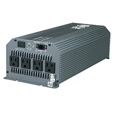 Tripp Lite Power Compact Inverter, 1800W, 12VDC, 120V, 5-15R, 4 Outlets for Automobiles, RVs, Trucks, Fleet Vehicles & Emergency Vehicles (PV1800HF)