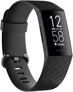 Fitbit Charge 4 Advanced Fitness Tracker with GPS, Heart Rate, Sleep & Swim Tracking - Black