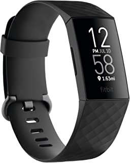 Fitbit Charge 4 Fitness and Activity Tracker with Built-in GPS, Heart Rate, Sleep & Swim Tracking, Black/Black, One Size (...