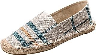Hommes Espadrilles Mode Plaid Stripe Graffiti Slip-on Mocassins Plat Antidérapant Low-Top Simple Confortable Chaussures en...