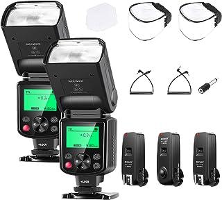 Neewer NW635 TTL GN58 Blitzgerät Set mit 2,4G Auslöser Kompatibel mit Sony MI Blitzschuhkameras A9II A9 A7RIV/III/II A7III/II A7SII A6600 A6500 A6400 A6300 A6000 A99II A77II RX10II/III/IV