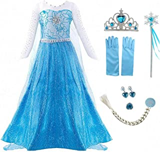 iTVTi Princess Fancy Costume Party Cosplay Dress Up for Little Girls 2-10 Years