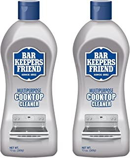 Bar Keepers Friend Multipurpose Ceramic and Glass Cooktop Cleaner | 13-Ounces | 2-Pack, 2 Pack, Natural, 26 Ounce