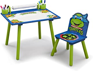Durable, Scratch-Resistant Brightly Colored Delta Children Nickelodeon Ninja Turtles Art Desk